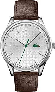 Lacoste Men's Analogue Quartz Watch with Leather Calfskin Strap 2011101