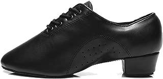Men's Leather Professional Latin Dance Shoes Ballroom Jazz Tango Waltz Performance Shoes