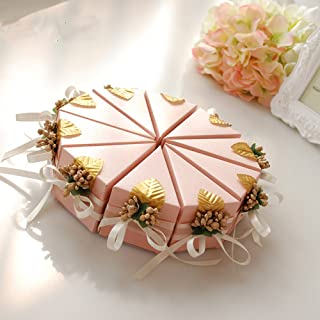 Moleya 20pcs Pink Party Favors Gift Boxes Wedding Favor Boxes for Treats and Sweets