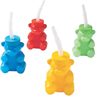 BEAR SHAPE MOLDED CUP - Party Supplies - 12 Pieces