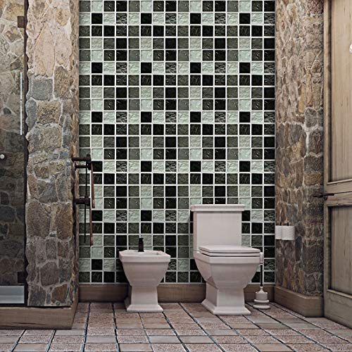 CACAIMAO Adhesivos Autoadhesivos para Azulejos De PVC, Adhesivos Decorativos De Mosaico para Pisos, Adhesivos Decorativos De Pared Impermeables Y Resistentes Al Desgaste 6Pc 20cm*20cm