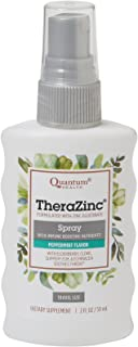 Quantum Health TheraZinc Oral Spray, Made with Zinc Gluconate for Immune Support and Throat Relief in a Soothing Spray, 2 Oz.