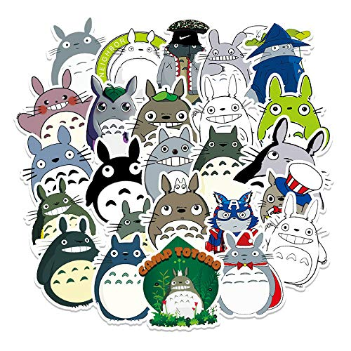 XIAMU Dibujos Animados dragón Gato Anime Graffiti Pegatina Equipaje Coche refrigerador Ordenador Pegatinas Decorativas Impermeables 52 uds