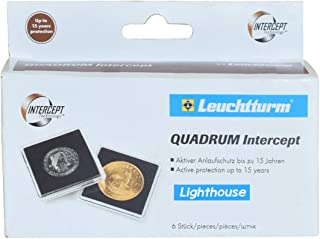 Quadrum INTERCEPT Coin Holders for Silver Eagle Dollars 41mm by Lighthouse 6 Pack