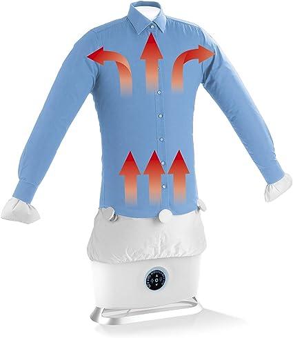 CLEANmaxx Plancha automática con función de vapor | Seca y alisa camisas y blusas y sustituye a la plancha | Estación de planchado automática con 2 ...