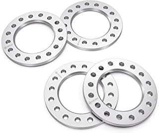 RockTrix 4pcs 0.25 inch 8x170 and 8x6.5 Flat Wheel Spacers - Compatible with many 8-lug Chevy Ford GMC Hummer Dodge (See Description for Year and Model) - 8x165.1 and 8x170 Silver Aluminum