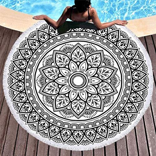 GermYan Toallas de Playa Redondas Mandala Toalla de Ducha de baño Gruesa geométrica de Verano 150Cm Círculo Playa Natación Yoga Mat Cover Up