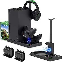 TwiHill Suporte de carregamento com ventilador de resfriamento para console e controlador Xbox Series X, acessórios de est...
