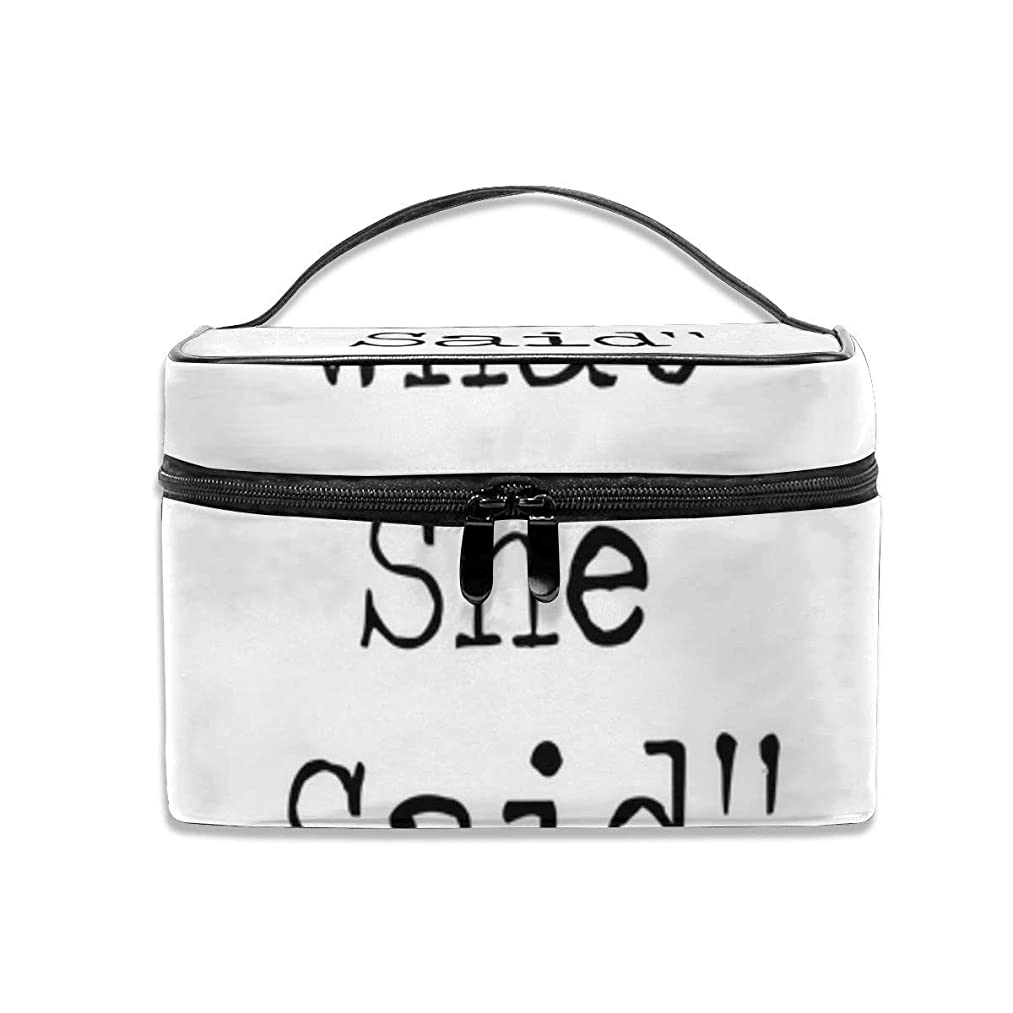 The office micheal scott quote thats what she said Makeup Bag Portable Travel Cosmetic Bag Organizer Zipper Toiletry Bag for Woman