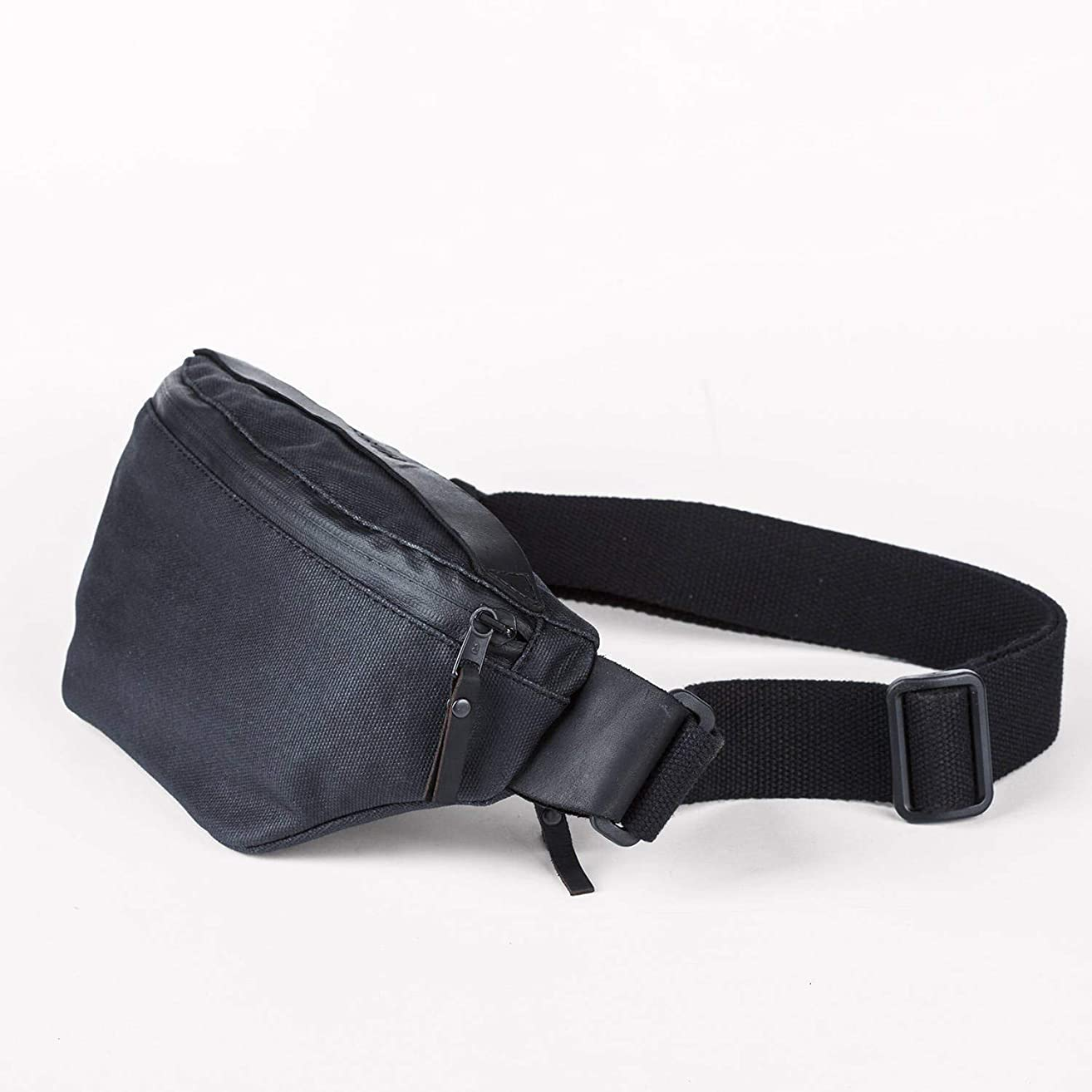 Waist Bag, Leather Waist Bag, Men's Fanny Pack, Hip Bag, Bum Bag, Canvas Waist Bag, Belt Bag, Leather Fanny Pack, Waist Pack, Waist Purse, Festival Bag, Hip Bag, Waist Pouch,Small Bag,Black Fanny Pack