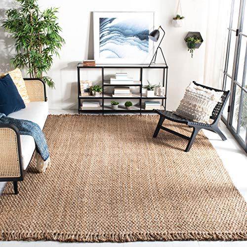 Safavieh Natural Fiber Collection NF467A Handmade Tassel Premium Jute Area Rug, 9' x 12', Natural