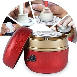 TWSOUL Mini Poterie Roue Machine,0-1500RPM Réglable,Machine à Poterie électrique avec Plateau,Outils De Bricolage en Céram...