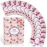 SCENTORINI Bustine profumate di alta qualità profumate alla rosa, per cassetti, armadi, armadi, bagno, auto, regalo di San Valentino (14 bustine)
