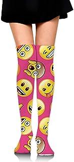 Emoji Calcetines largos hasta la rodilla unisex Botas Calcetines largos Longitud 60cm