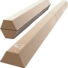 XTEK Gym 8ft Foldable Balance Beam, Extra Long Floor Gymnastics Beam | Lightweight & Heavy Duty Foam | Professional Home Training Gymnastics Equipment for Kids Adults