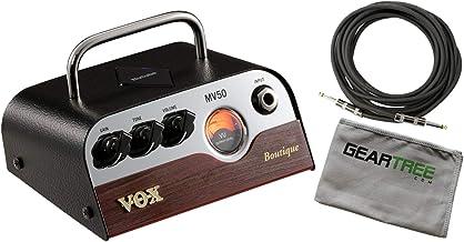 VOX MV50 BQ Boutique 50W Mini Guitar Amplifier Head Bundle w/Cable and Cloth
