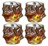 Bicchieri di Whisky Set di 4 Bicchieri da Whisky Ultra chiarezza Vecchio Stile di Vetro, Bicchieri di Cristallo per Bere Bourbon, Cocktail, Scotch, Vodka, de decantatore di Whisky 330ml