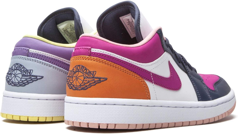 Jordan Womens WMNS Air 1 Low SE DJ4342 400 Mismatched Purple/Magenta - Size