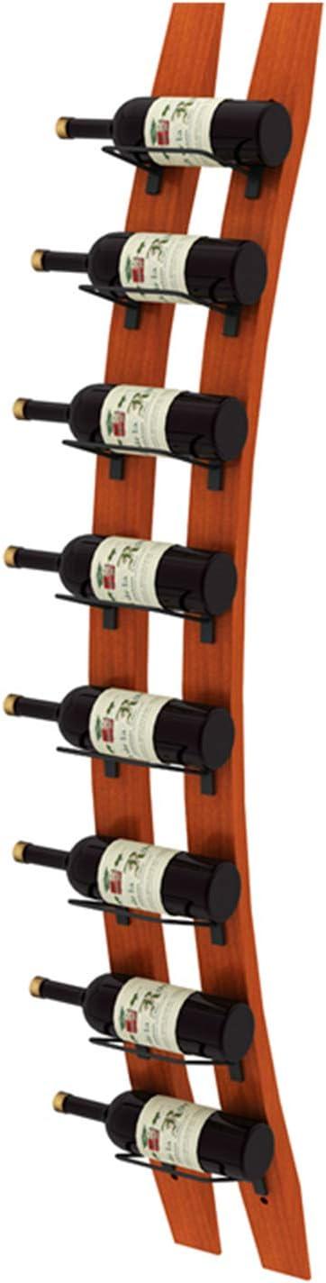 YQJ Botellero De Madera Montado En La Pared, Portabotellas De Hierro para Bar, Restaurante, Cocina Y Armario,8 Bottles
