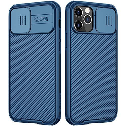 Nillkin CamShield Kompatibel mit iPhone 12 Pro Max Hülle, Handyhülle mit Kameraschutz und Anti-Rutsch Stoßfest Kratzfest Schutzhülle für iPhone 12 Pro Max Case Blau