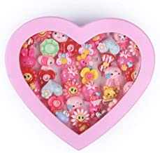 vikas gift gallery Kids Cartoon Fancy Finger Rings for rakshabandhan and Birthday Gift Comes in Pink Heart Shape Box. Suit...