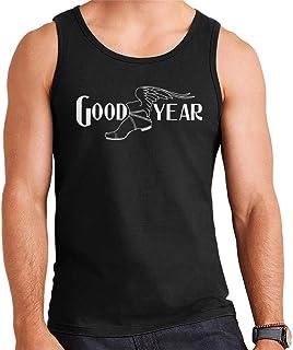 Goodyear Svart och vit logotyp herr väst