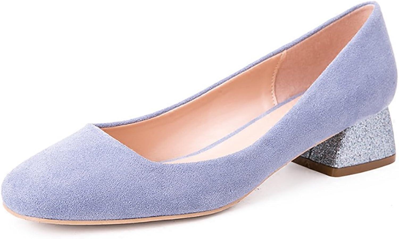 Sweet Fashion Women Comfortable Sequins shoes ( color   Purple , Size   36 )