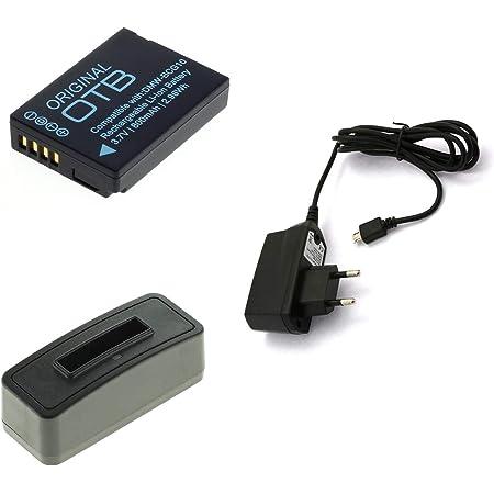 TZ35 TZ36 DMW-BCG10E für Panasonic Lumix DMC-TZ31 TZ65 Akku-Ladegerät USB