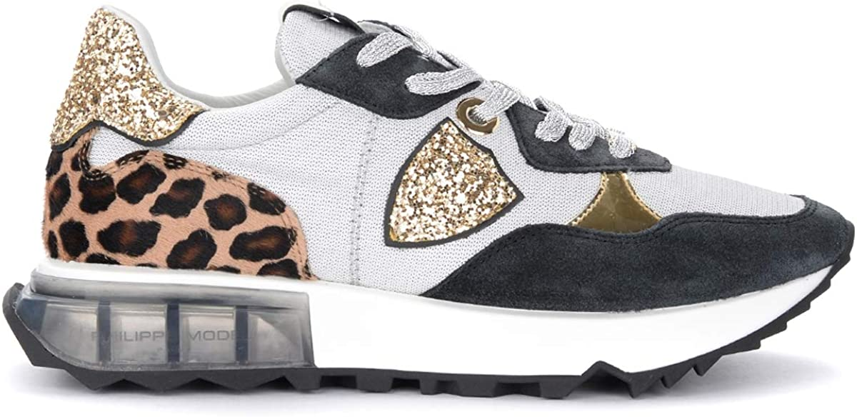 free Philippe Model Grey Black and Gold Max 55% OFF Sneaker Rue La Animalie with