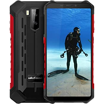 "Ulefone Armor X5(2020) Rugged Phones Unlocked, Android 10 Octa-core 3GB + 32GB ROM 13MP+2MP+5MP Triple Camera 5.5"" HD+ Screen 5000mAh Battery Dual 4G Rugged Smartphones"