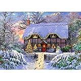 MXJSUA Kit de pintura diamante DIY 5D para decoración de casa de adultos árbol de Navidad muñeco de nieve decoración punto de cruz decoración hogar para salas estar dormitorios Rhinestone Art 30x40cm