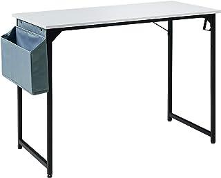 YMYNY 100cm Bureau Informatique, Table d'Ordinateur, Poste de Travail, pour Bureau à Domicile, Salon, Chambre, Petit Espac...