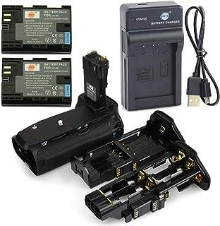 DSTE BG-E14 Apretón Batería + 2x LP-E6 Batería + USB Cargador para Canon EOS 70D 80D