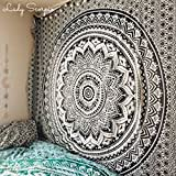 raajsee Indisch Wandteppich Mandala Ombre Tapestry Hippie Psychedelic Wandbehang,Elefant Boho Indischer Baumwolle Wand tucher 140 x 210 cm Twin