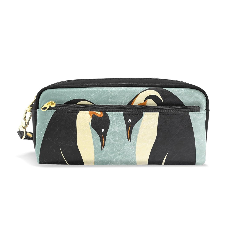 AOMOKI ペンケース ペンポーチ かわいい おしゃれ 化粧ポーチ 小物入り 多機能バッグ 男女兼用 プレゼント ギフト ペンギン アニマル 家族