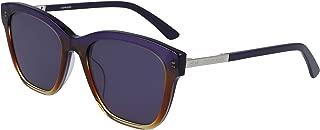 CALVIN KLEIN Women's Sunglasses Square, Ck American Heritage - Crystal Iris/Amber Gradient