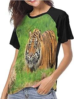 Tight Tops Tee,Tiger,Sumatran Feline Ambush,Girls Short Sleeves Tight