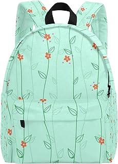 MALPLENA - Mochila para Hombre, diseño de Flores, Color Verde