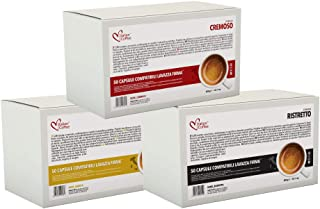 Italian Coffee capsules compatible with RIVO machines (Arabica/Cremoso/Ristretto, 150)