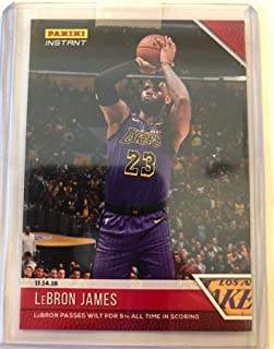 2018-19 Panini Instant NBA Basketball  36 LeBron James Los Angeles Lakers  Passes Wilt 3ca6ffe52