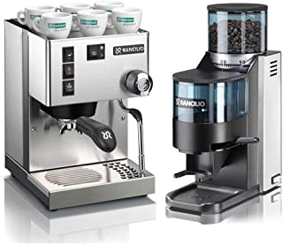 Rancilio Silvia M V6 and Rocky Bar Combo (Stainless Steel, Doser)