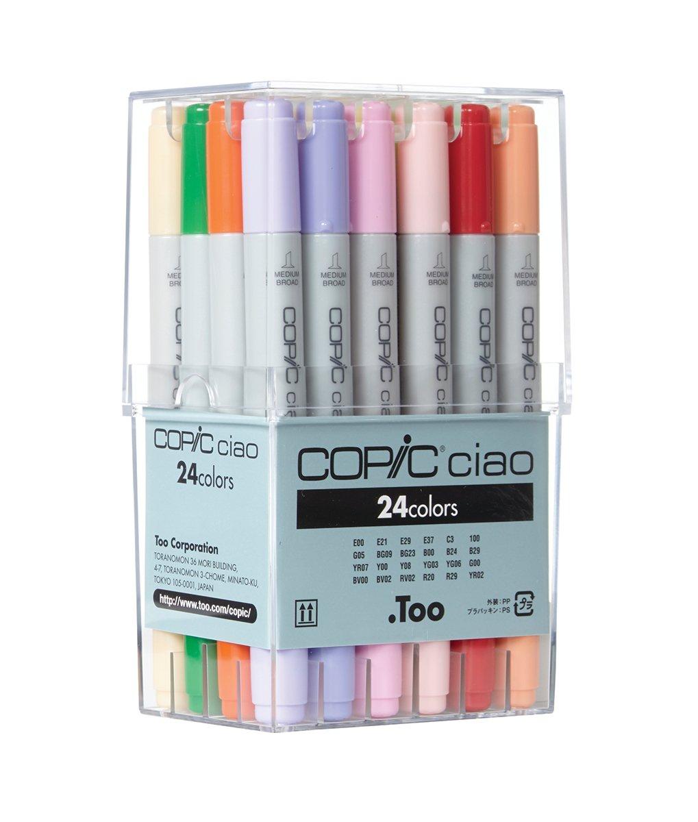Copic CZ22075524 - Paquete de 24 rotuladores, multicolor: Amazon.es: Oficina y papelería