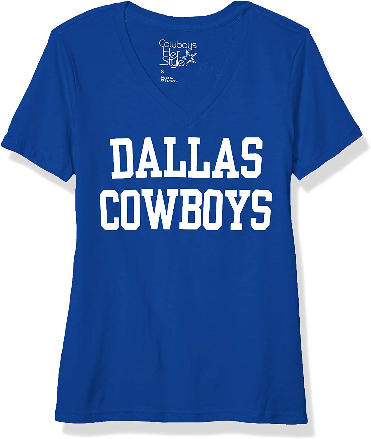 Dallas Cowboys NFL Womens Coaches Too V-Neck Tee