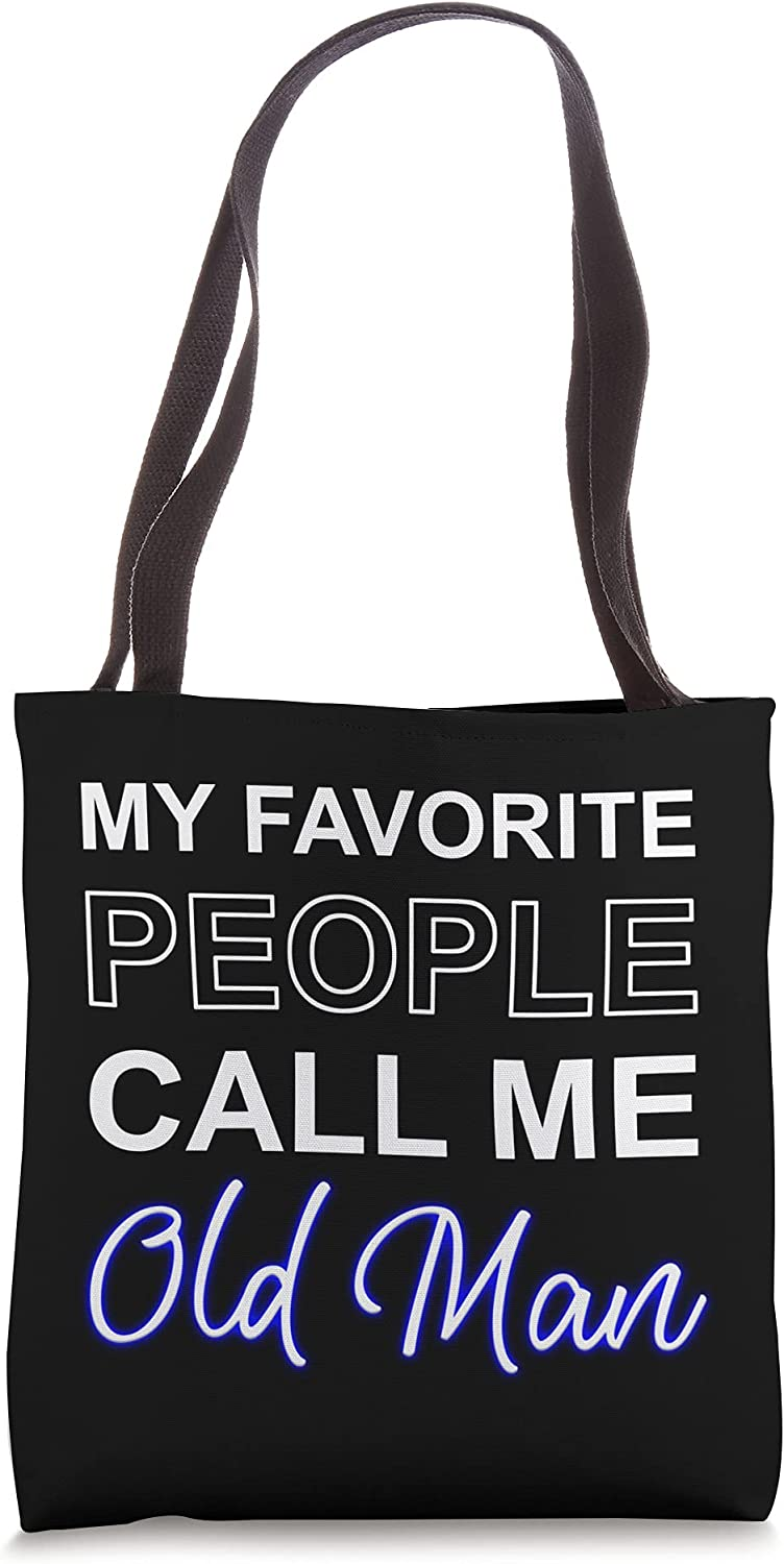 Old Man Pa Fathers Day Present Apparel Pop American Dad Tote Bag