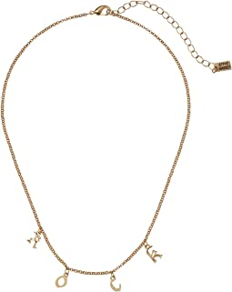 "Steve Madden ""Rock"" Rolo Lobster Claw Necklace"