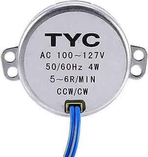 Synchronous Motor 4W 50/60Hz Turntable Synchron Motor AC 100-127V 5-6RPM/MIN CCW/CW