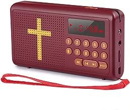 EANSSN Reproductor BíBlico, Reproductor De Audio BíBlico De Bolsillo con BateríA, Lectura BíBlica De Audio En IngléS, AudíFonos Y Altavoz Incorporado
