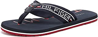 Tommy Hilfiger Men's Stripe Beach Flip Flops, Blue