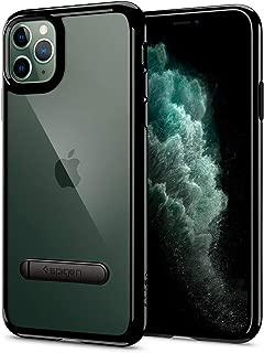 【Spigen】 iPhone 11 Pro ケース 5.8インチ 対応 スタンド付き キックスタンド 背面 クリア 米軍MIL規格取得 ウルトラ・ハイブリッド S 077CS27444 (ジェット・ブラック)