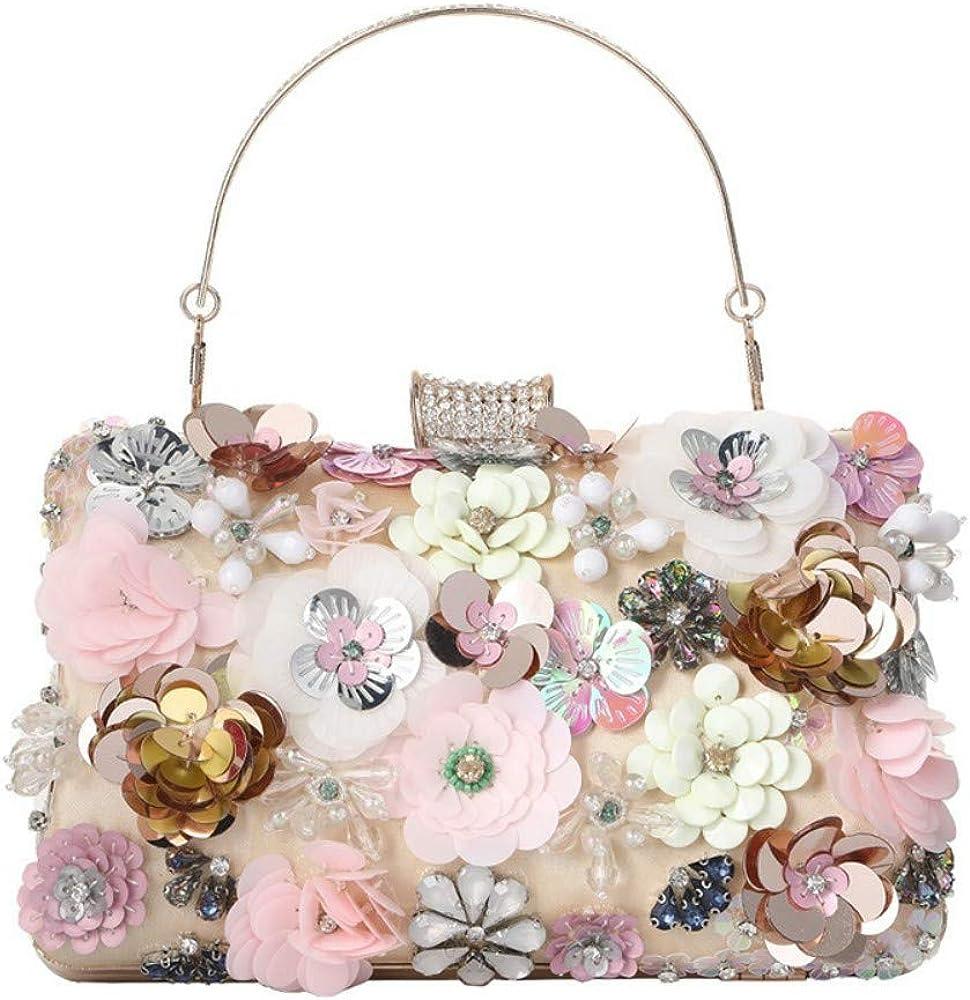 Women Fashion Luxury Party online shop Handbags Bag 5 popular Wedding Floral Purse